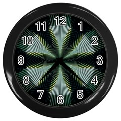 Lines Abstract Background Wall Clocks (black)