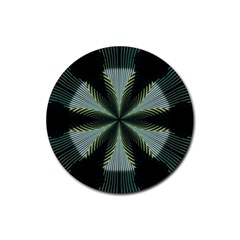Lines Abstract Background Rubber Coaster (round)