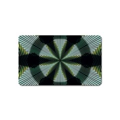 Lines Abstract Background Magnet (name Card)