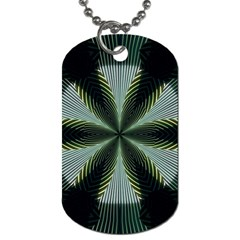 Lines Abstract Background Dog Tag (two Sides)