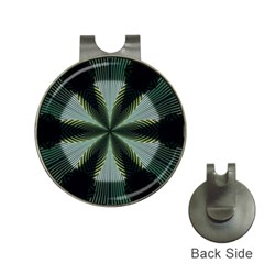 Lines Abstract Background Hat Clips With Golf Markers