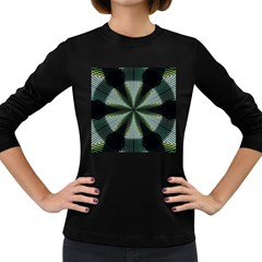 Lines Abstract Background Women s Long Sleeve Dark T Shirts