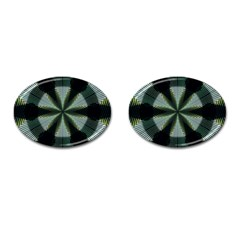 Lines Abstract Background Cufflinks (oval)