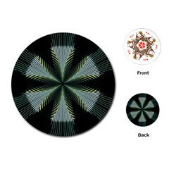 Lines Abstract Background Playing Cards (round)