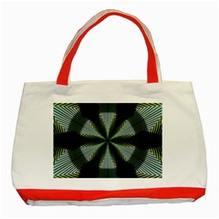 Lines Abstract Background Classic Tote Bag (red)