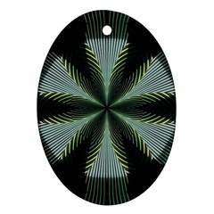 Lines Abstract Background Oval Ornament (two Sides)