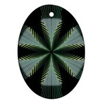Lines Abstract Background Oval Ornament (Two Sides) Back