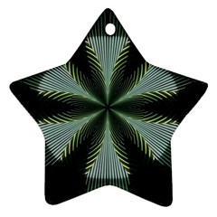Lines Abstract Background Star Ornament (two Sides)