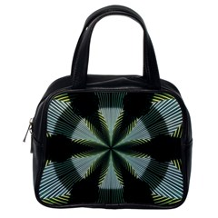 Lines Abstract Background Classic Handbags (one Side)