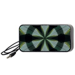 Lines Abstract Background Portable Speaker (black)