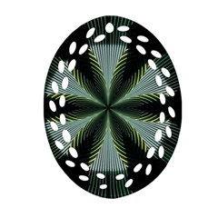Lines Abstract Background Ornament (oval Filigree)