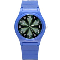 Lines Abstract Background Round Plastic Sport Watch (S)