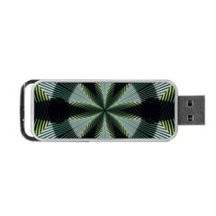 Lines Abstract Background Portable Usb Flash (one Side)
