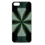 Lines Abstract Background Apple Seamless iPhone 5 Case (Clear) Front
