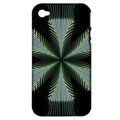 Lines Abstract Background Apple Iphone 4/4s Hardshell Case (pc+silicone)