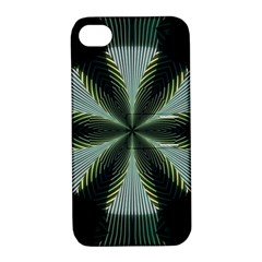 Lines Abstract Background Apple iPhone 4/4S Hardshell Case with Stand