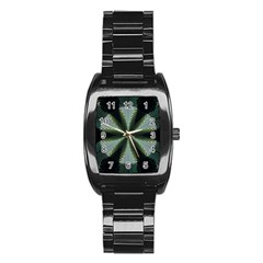 Lines Abstract Background Stainless Steel Barrel Watch