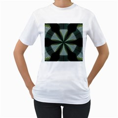 Lines Abstract Background Women s T Shirt (white)
