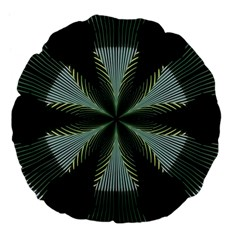 Lines Abstract Background Large 18  Premium Flano Round Cushions