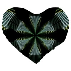 Lines Abstract Background Large 19  Premium Flano Heart Shape Cushions