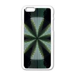 Lines Abstract Background Apple iPhone 6/6S White Enamel Case