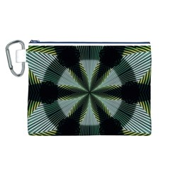 Lines Abstract Background Canvas Cosmetic Bag (l)