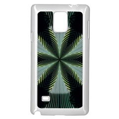 Lines Abstract Background Samsung Galaxy Note 4 Case (white)