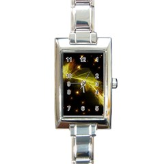 Particles Vibration Line Wave Rectangle Italian Charm Watch