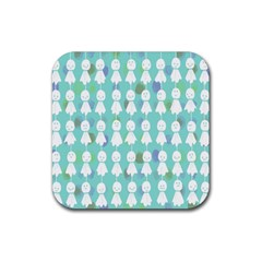 Free Illust Japanese Dolls Rain Antidote Ghost Rubber Coaster (square)