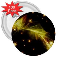 Particles Vibration Line Wave 3  Buttons (100 Pack)