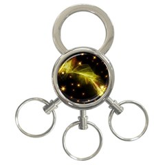 Particles Vibration Line Wave 3-Ring Key Chains