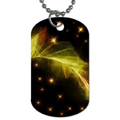 Particles Vibration Line Wave Dog Tag (one Side)