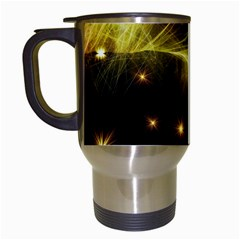 Particles Vibration Line Wave Travel Mugs (white)