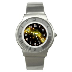 Particles Vibration Line Wave Stainless Steel Watch