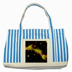 Particles Vibration Line Wave Striped Blue Tote Bag