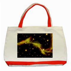 Particles Vibration Line Wave Classic Tote Bag (red)
