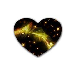 Particles Vibration Line Wave Rubber Coaster (Heart)