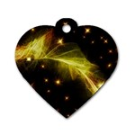 Particles Vibration Line Wave Dog Tag Heart (One Side) Front