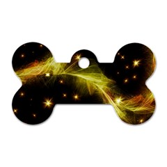 Particles Vibration Line Wave Dog Tag Bone (two Sides)