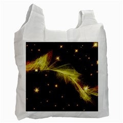 Particles Vibration Line Wave Recycle Bag (one Side)