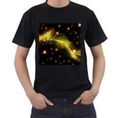 Particles Vibration Line Wave Men s T Shirt (black)