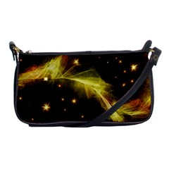 Particles Vibration Line Wave Shoulder Clutch Bags