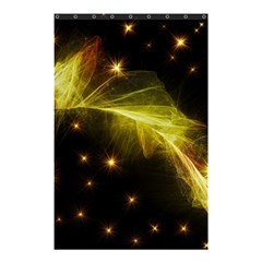 Particles Vibration Line Wave Shower Curtain 48  x 72  (Small)