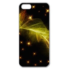 Particles Vibration Line Wave Apple Seamless Iphone 5 Case (clear)
