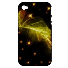 Particles Vibration Line Wave Apple Iphone 4/4s Hardshell Case (pc+silicone)