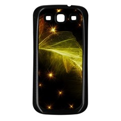 Particles Vibration Line Wave Samsung Galaxy S3 Back Case (black)