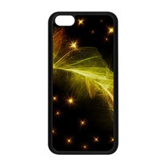 Particles Vibration Line Wave Apple Iphone 5c Seamless Case (black)