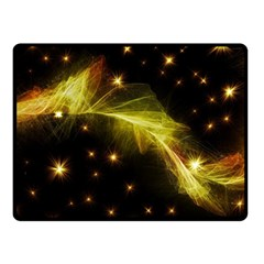 Particles Vibration Line Wave Double Sided Fleece Blanket (small)