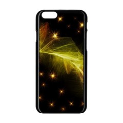 Particles Vibration Line Wave Apple Iphone 6/6s Black Enamel Case