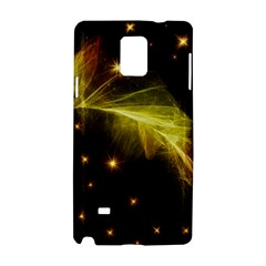 Particles Vibration Line Wave Samsung Galaxy Note 4 Hardshell Case